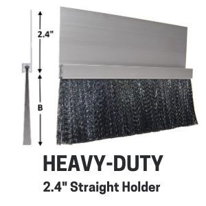 Heavy-Duty Brush - 2.4in straight holder