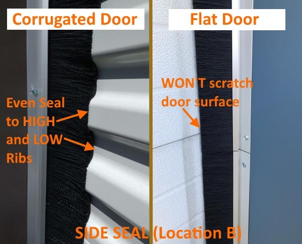 Side Brush Seal, Roll-up Door